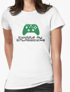 Twiddle My Thumbsticks Womens Fitted T-Shirt