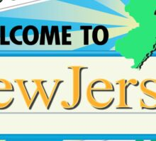 Welcome to New Jersey, Road Sign, USA Sticker