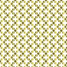 Gold Foil Dots on White by Cherie Balowski