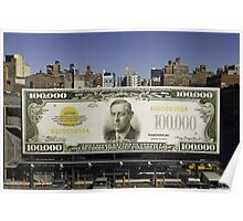 New York, First $100,000 Poster
