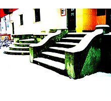 Snowy stairs Photographic Print