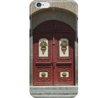 Red Wood Church Door iPhone Case/Skin