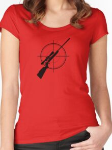 sniper - shooter Women's Fitted Scoop T-Shirt