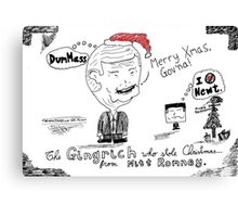 The Gingrinch Who Stole Christmas from Romney Canvas Print