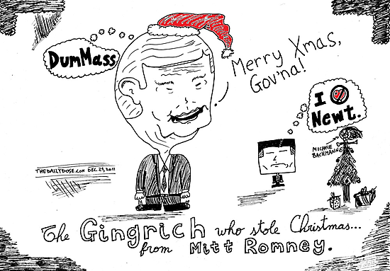 The Gingrinch Who Stole Christmas from Romney by bubbleicious