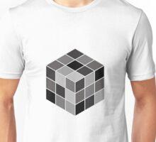 Monochrome Rubik's cube Unisex T-Shirt