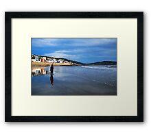 Pause For Reflection ~ Lyme Regis Framed Print