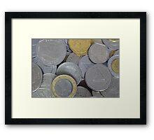 International Coins Framed Print