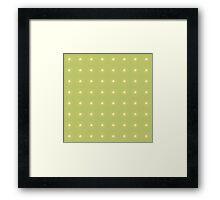 Floral pattern, light green background Framed Print