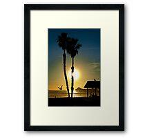 Sunset Oceanside California Framed Print