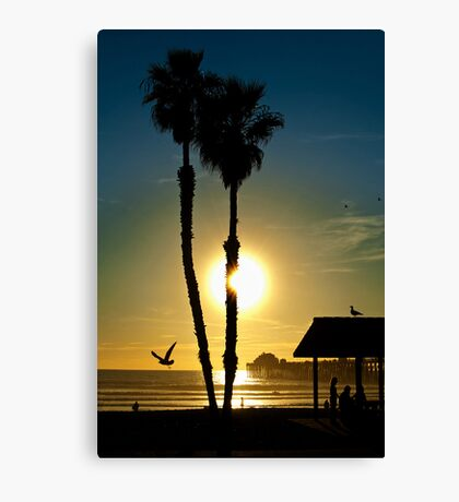 Sunset Oceanside California Canvas Print