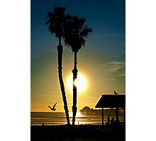 Sunset Oceanside California Photographic Print