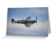 Spitfire Mk9 Greeting Card
