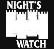 Castle Black ( Night's Watch / Game of Thrones shirt) White Logo by IG-HateyHate