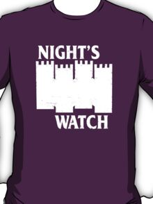 Castle Black ( Night's Watch / Game of Thrones shirt) White Logo T-Shirt