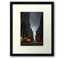 Evening Time in NYC Framed Print