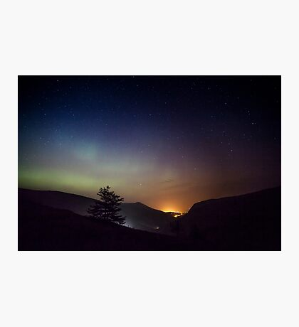 Aurora over Glengesh, Donegal Photographic Print