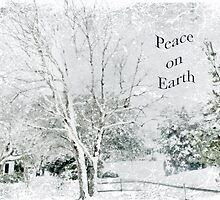 """Snow Fantasy """"Peace On Earth"""" ~ Greeting Card Plus More! by Susan Werby"""
