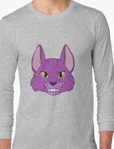 Violet Cat Grins Long Sleeve T-Shirt