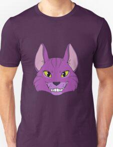 Violet Cat Grins Unisex T-Shirt