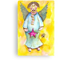 A Cross Eyed Angel for You Canvas Print