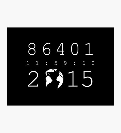 86401 Leap Second 2015 (white version) Photographic Print