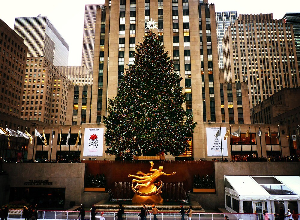 The Rockefeller Center Christmas Tree by Vivienne Gucwa