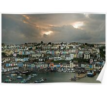 Brixham after the storm   Poster