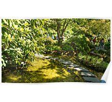 Stepping Stones, Butchart Garden Poster