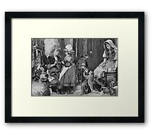 Waiting for the Visitor HO! Ho! ho! Merry Christmas. Framed Print