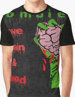 Halloween Night with Zombies Graphic T-Shirt