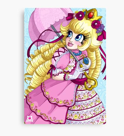 Lolita Princess Peach Canvas Print