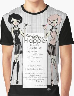 Gatsby Girl 1920s Recipe for Flapper  Graphic T-Shirt