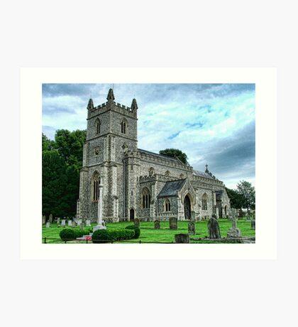 St Mary's Church, East Raynham Art Print
