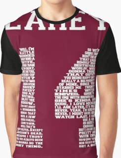 """Isaac """"Quote"""" Jersey Graphic T-Shirt"""