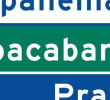 Ipanema/Copacabana/Beach, Traffic Sign, Brazil  Sticker