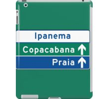 Ipanema/Copacabana/Beach, Traffic Sign, Brazil  iPad Case/Skin