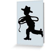 Cowboy silhouette Greeting Card