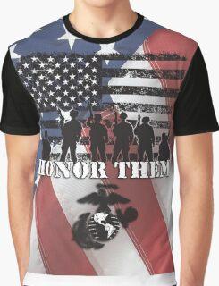 Honor Them-Marines Graphic T-Shirt
