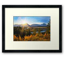 Snake River Sunset, Wyoming, USA Framed Print