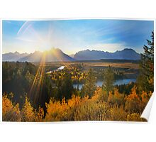 Snake River Sunset, Wyoming, USA Poster