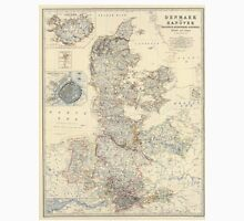 Vintage Map of Denmark (1861) Unisex T-Shirt