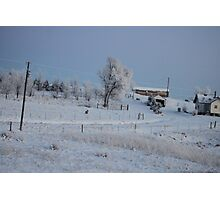 Christmas in Wyoming Photographic Print