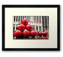 Christmas Balls in New York Framed Print