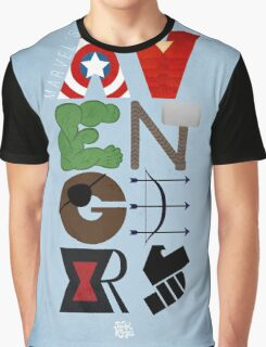 Avengers Typography Graphic T-Shirt