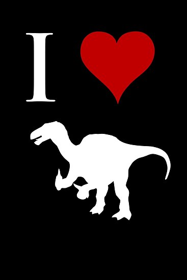 I Love Dinosaurs - Iguanodon (white design) by jezkemp