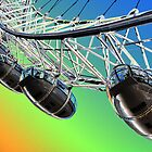 London Eye Abstract View by DavidHornchurch