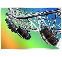 London Eye Abstract View Poster
