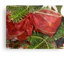 Christmas Ribbon Metal Print