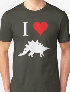 I Love Dinosaurs - Stegosaurus (white design) T-Shirt